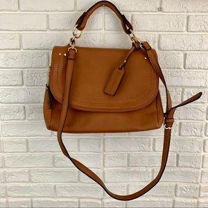 Sole Society rubie faux leather crossbody flap bag